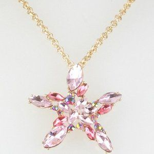 Betsey Johnson Stone Cluster Starfish Necklace
